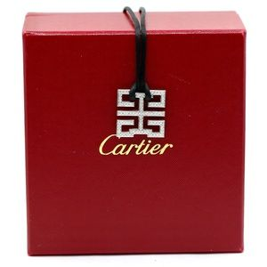 Cartier 1.5 Carat Diamond 18 White Gold Necklace